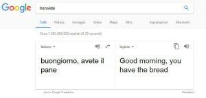 Traduzione inglese italiano Google Translate esempio 2