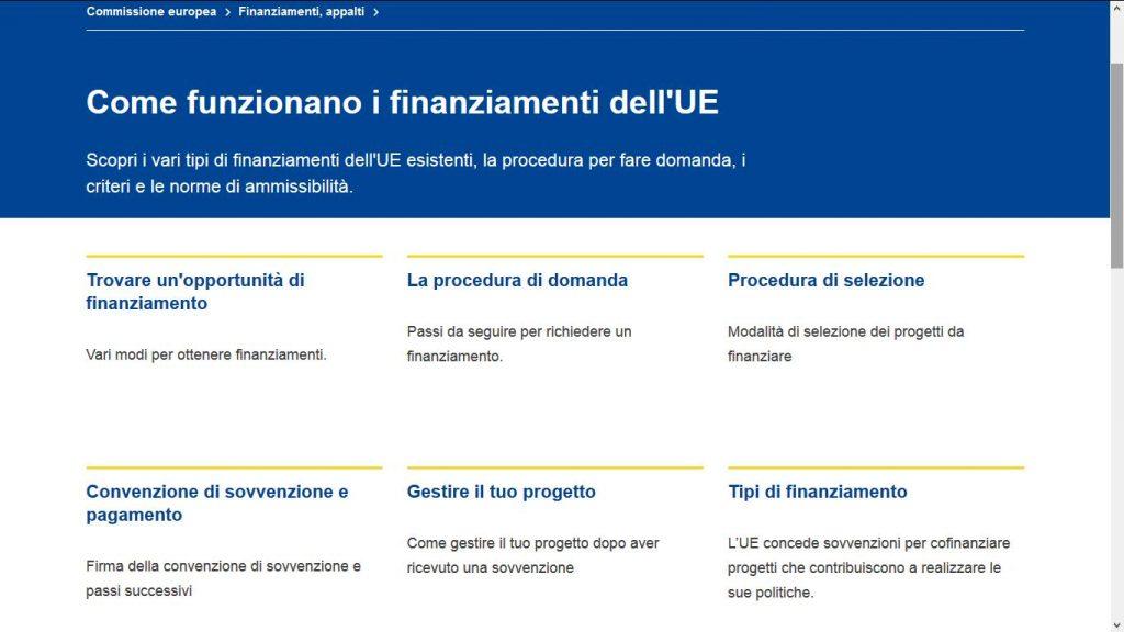 Come funzionano i finanziamenti UE
