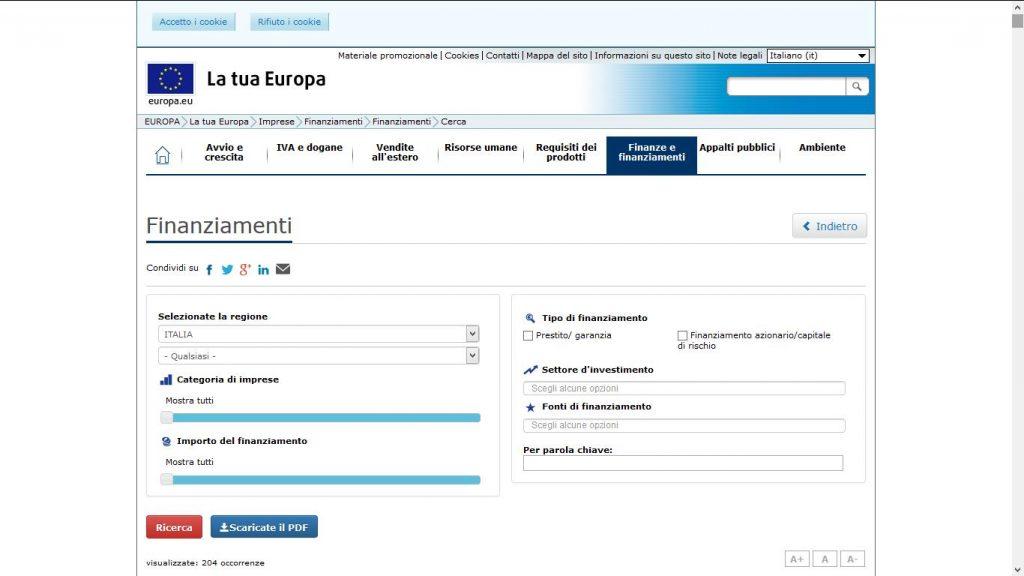 Dove trovare i finanziamenti europei per start up e PMI