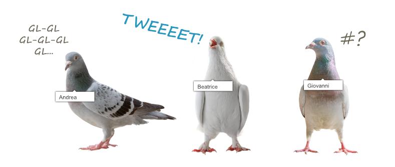Piccioni che tubano, piccioni che twittano (Foto con individui taggati...)