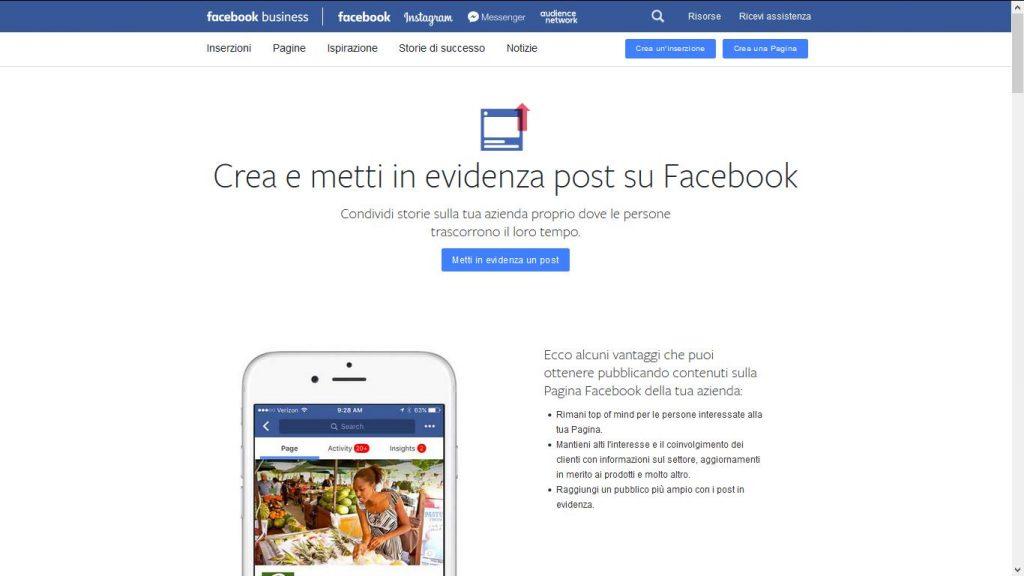 Come creare e mettere in evidenza un post su Facebook