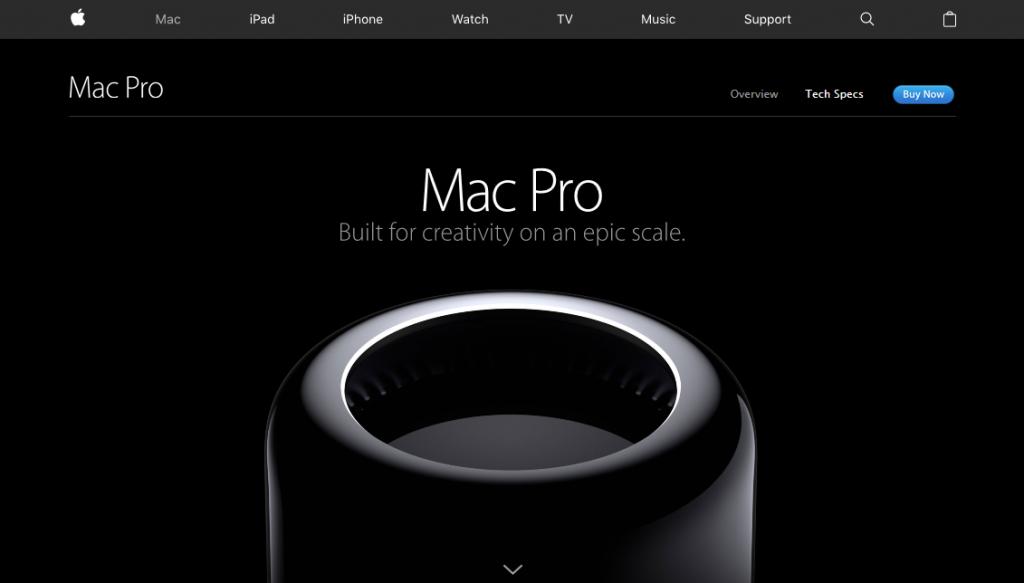 Apple MacPro esempio micro interazioni