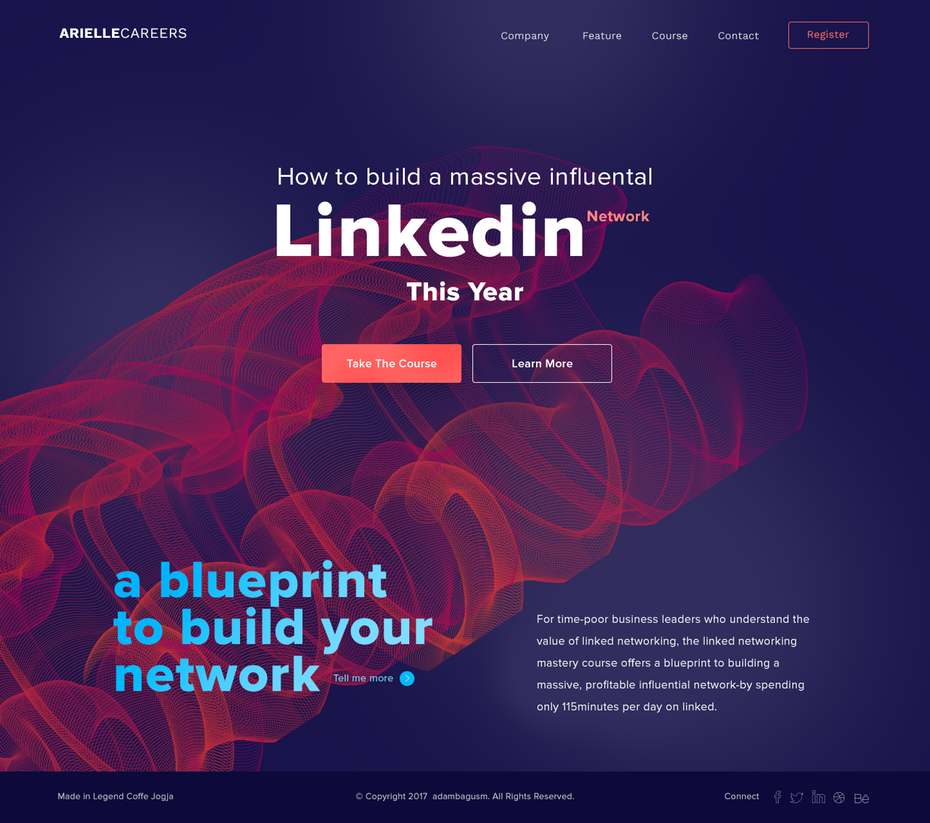 trends web design 2018 colori vibranti