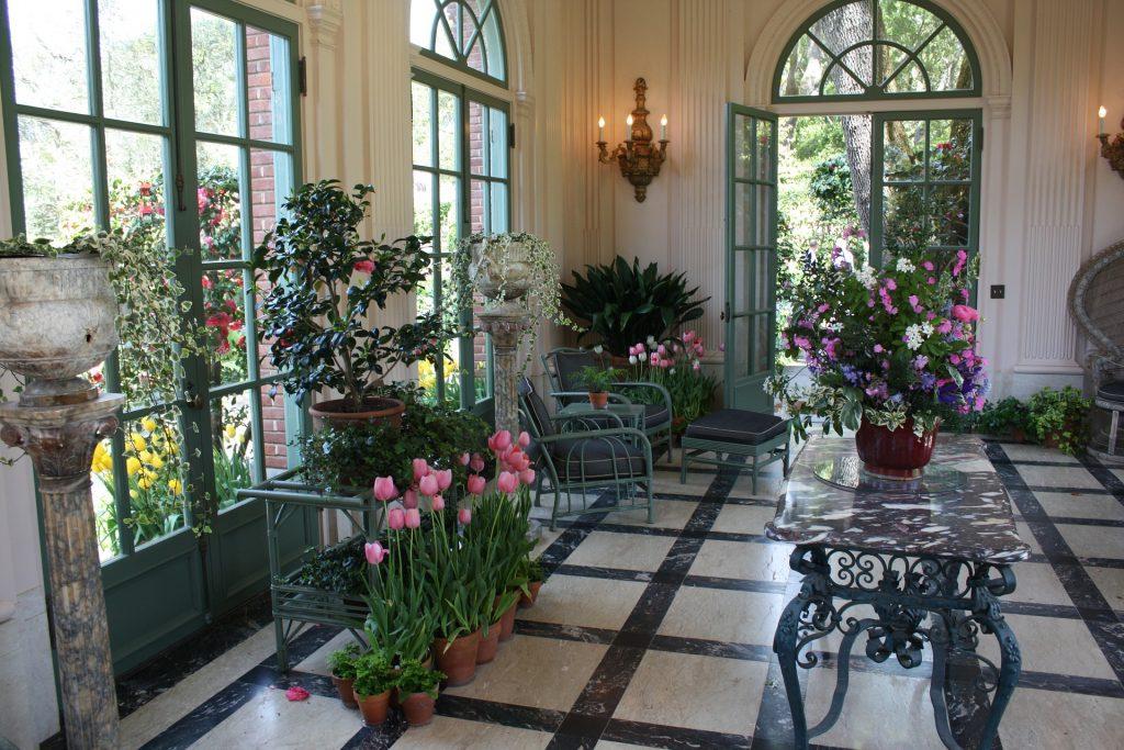design d'interni giardino d'inverno