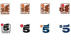 logo canale 5 evoluzione