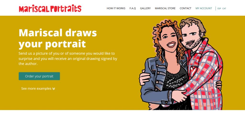Mariscal Portraits caricature online