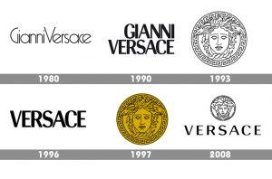 versace logo evoluzione