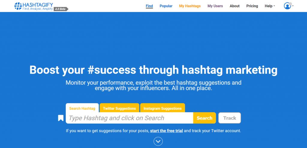 taggare le immagini con Hashtagify