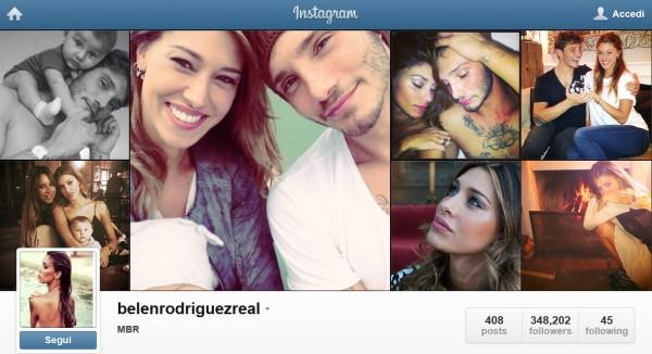 instagram o facebook belen rodriguez