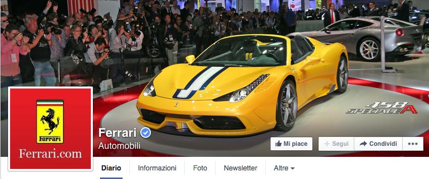 instagram o facebook Ferrari