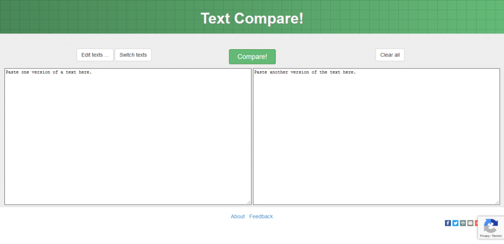 textcompare confrontare due testi