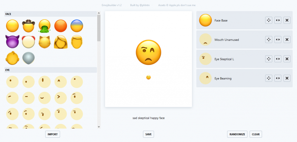 Emoji Builder:
