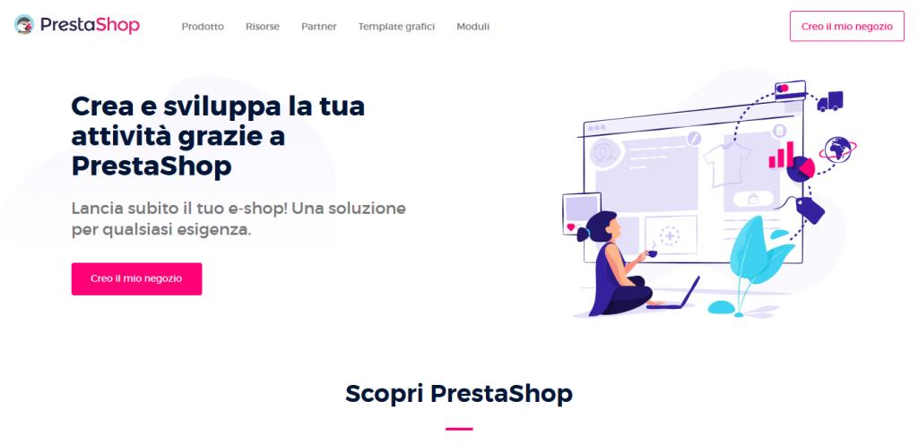 Piattaforme ecommerce Prestashop