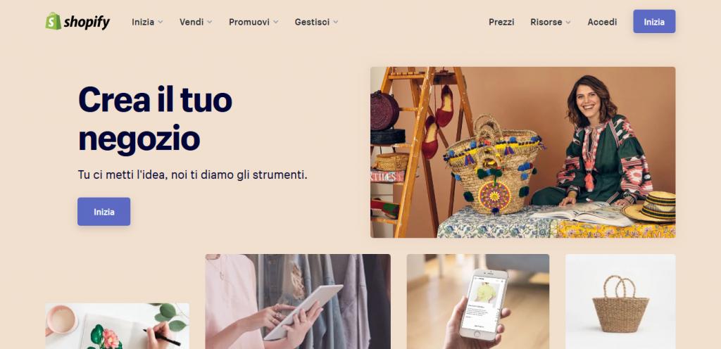 Piattaforme ecommerce Shopify