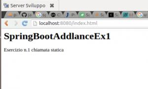 Spring Boot codice java esercizio 1