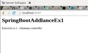 Spring Boot codice java esercizio controller