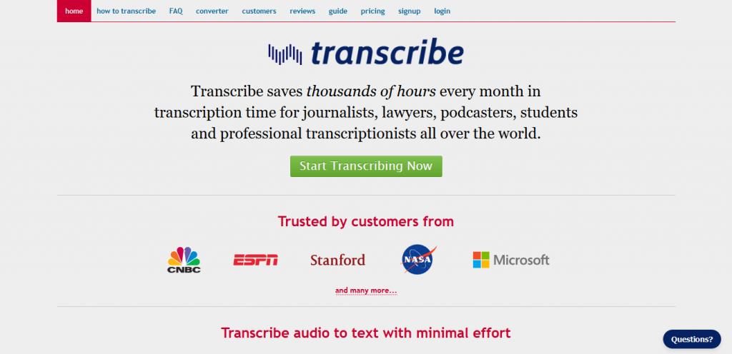 Transcribe software trascrizione