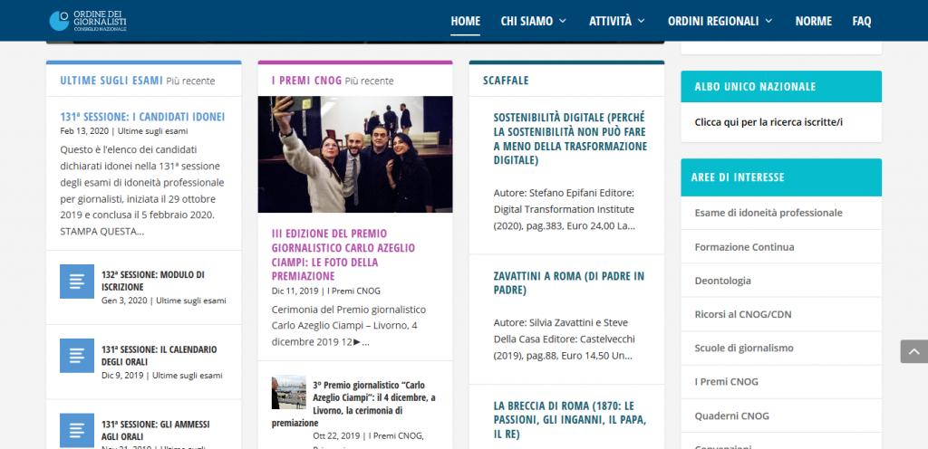 come si diventa giornalisti portale dell'OdG