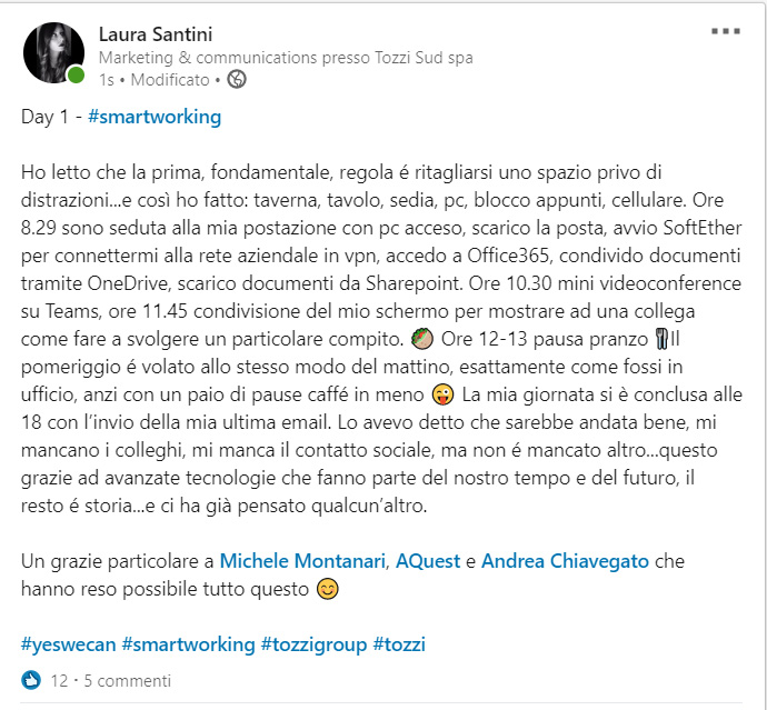 smart working Laura Santini