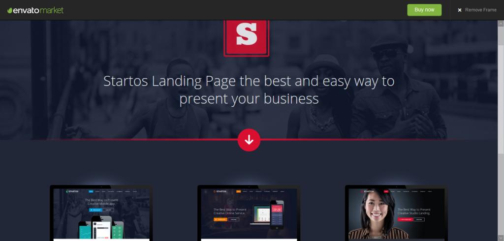 Startos landing page template