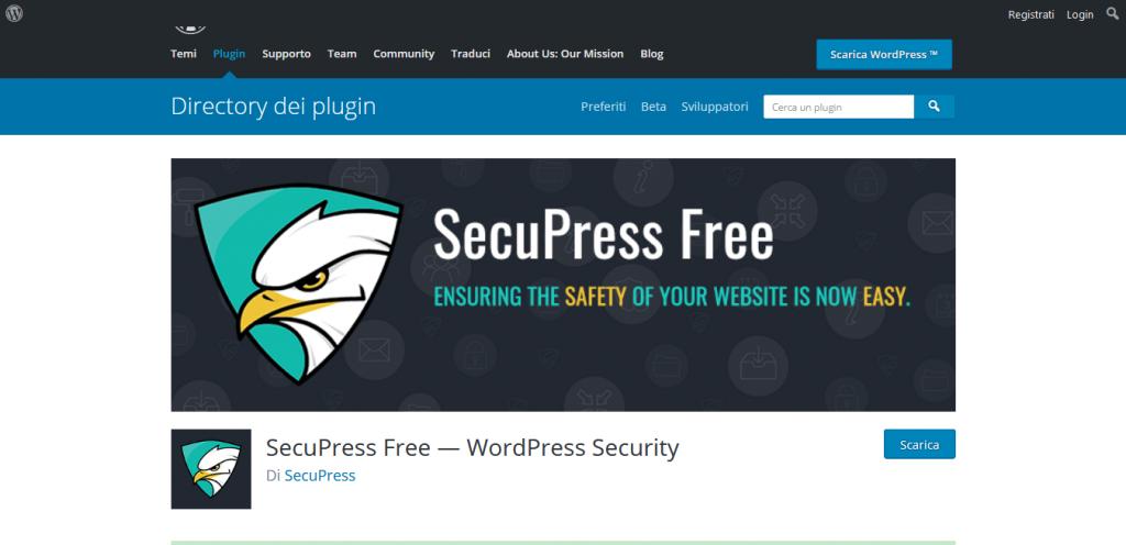 Migliori plugin WordPress Secupress