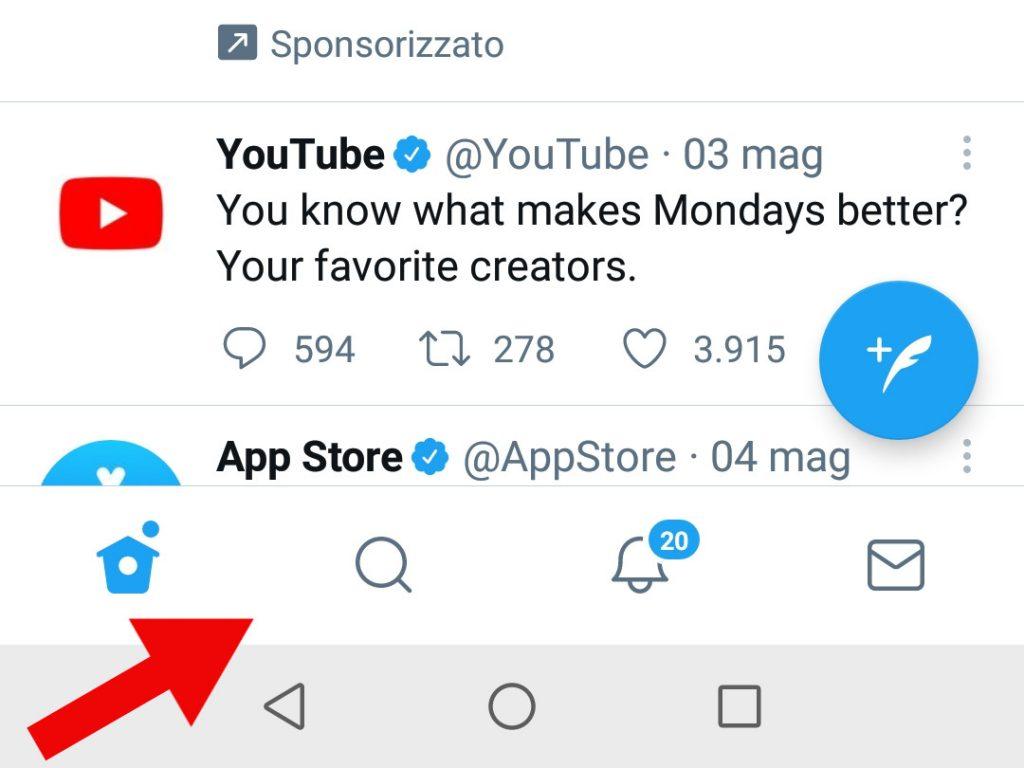 simboli twitter in app